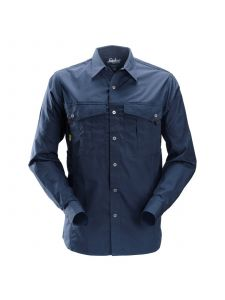 Snickers 8508 Rip-Stop Shirt l/s - Navy