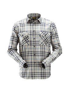 Snickers 8516 AllroundWork, Geblokt Flannellen Shirt - Grey/Navy