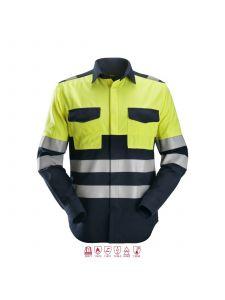 Snickers 8563 ProtecWork, Lasshirt l/m Klasse 1 - Navy/High Vis Yellow