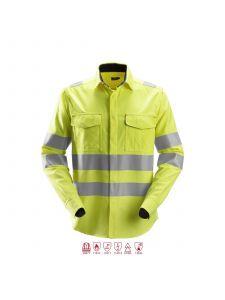 Snickers 8565 ProtecWork, Lasshirt l/m Klasse 3 - High Vis Yellow