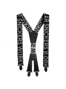 Snickers 9064 Bretels met Logo - Black/Steel Grey