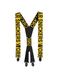Snickers 9064 Bretels met Logo - Yellow/Black