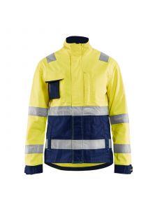 Ladies High Vis Jacket 4903 High Vis Geel/Marineblauw - Blåkläder