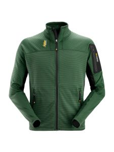 Snickers 9438 Body Mapping Micro Fleece Jack - Forest Green