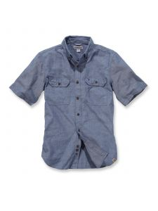 Carhartt S200 Fort Solid k/m Shirt Denim - Blue Chambray