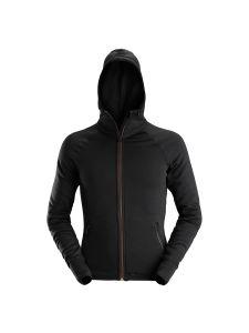 Dunderdon S25 Stretch Hoodie - Black/Brown