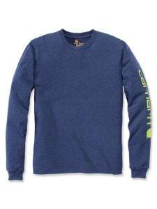 Carhartt EK231 T-Shirt Logo l/m - Dark Cobalt Blue Heather