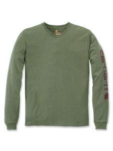 Carhartt EK231 T-Shirt Logo l/m - Olivine Heather