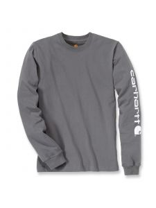 Carhartt EK231 T-Shirt Logo l/m - Charcoal