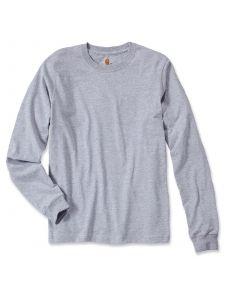 Carhartt EK231 T-Shirt Logo l/m - Heather Grey