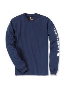 Carhartt EK231 T-Shirt Logo l/m - Navy