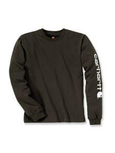 Carhartt EK231 T-Shirt Logo l/m - Peat
