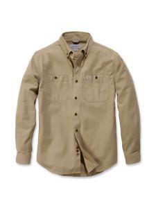 Carhartt 103554 Rugged Flex® Rigby l/s Work Shirt - Dark Khaki