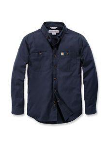 Carhartt 103554 Rugged Flex® Rigby l/s Work Shirt - Navy