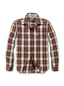 Carhartt 103667 l/s Essential Open Collar Shirt Plaid - Sequoia