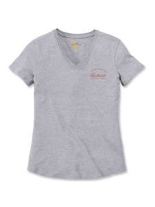 Carhartt 104227 Women's Lockhart Graphic T-Shirt - Heather Grey