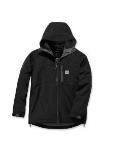 Carhartt 104245 Force Hooded Jacket - Black