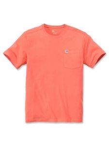 Carhartt 104266 Southern Pocket T-Shirt - Hot Coral