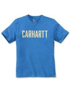 Carhartt 104267 Southern Block Logo T-Shirt - Bolt Blue