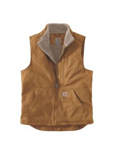 Carhartt 104277 Washed duck Sherpa lined mock neck vest