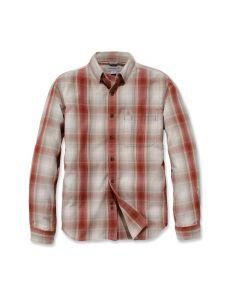Carhartt 104331 Essential Plaid Shirt - Dark Barn Red