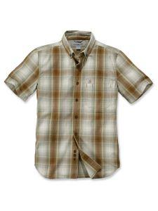 Carhartt 104332 Essential Plaid Shirt - Oiled Walnut
