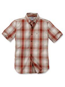 Carhartt 104332 Essential Plaid Shirt - Dark Barn Red