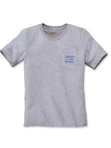 Carhartt 104363 Graphic Pocket T-Shirt - Heather Grey