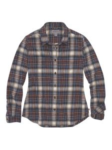 Carhartt 104516 Women's Hamilton Plaid Flannel Shirt l/s - Twilight