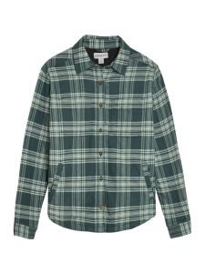 Carhartt 104518 Women's Hamilton Plaid Flannel Jacket - Fog Green