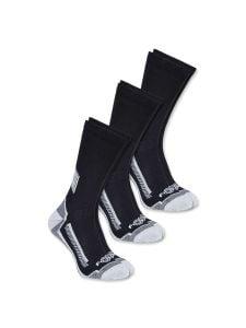Carhartt A422-3 Force® Performance work crew sokken 3-pak - Black