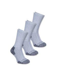 Carhartt A62 All Season Cotton Crew Work Sock (3-pack) - Grey