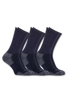 Carhartt A62 All Season Cotton Crew Work Sock (3-pack) - Navy
