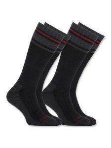 Carhartt A774-2 Koud weer thermische sokken 2-pak - Black