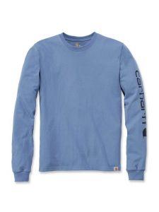 Carhartt EK231 T-Shirt Logo l/m - French Blue