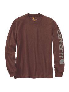 Carhartt EK231 T-Shirt Logo l/m - Iron ore heather