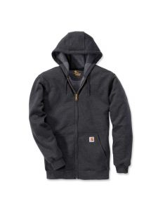Carhartt K122 Midweight Hooded Zip Front Sweatshirt - Carbon Heather
