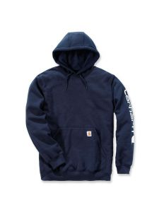 Carhartt K288 Midweight Sleeve Logo Hooded Sweatshirt - New Navy