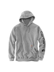 Carhartt K288 Midweight Sleeve Logo Hooded Sweatshirt - Heather grey / Black