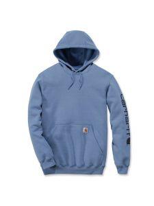 Carhartt K288 Midweight Sleeve Logo Hooded Sweatshirt - French Blue