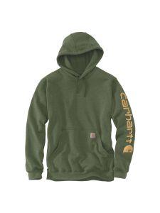 Carhartt K288 Midweight Sleeve Logo Hooded Sweatshirt - Winter moss heather