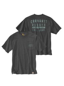 Carhartt 104581 Relaxed Fit s/s Pocket Rugged Graphic T-Shirt - Carbon heather