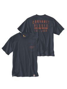 Carhartt 104581 Relaxed Fit s/s Pocket Rugged Graphic T-Shirt - Navy