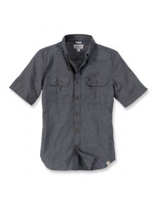 Carhartt S200 Fort Solid k/m Shirt - Black Chambray