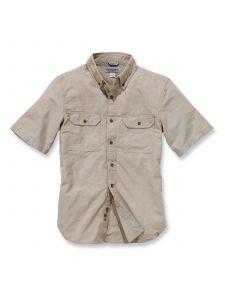 Carhartt S200 Fort Solid k/m Shirt - Dark Tan Chambray