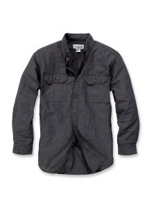 Carhartt S202 Fort Solid l/m Shirt - Black Chambray