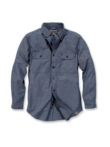 Carhartt S202 Fort Solid l/m Shirt - Denim Blue Chambray