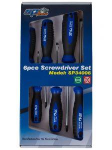 SP Tools SP34006 Schroevendraaierset 6-delig Phillips/ Zaagsnede