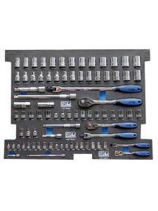 SP Tools SP50003 Eva Inleg 81-delig metrisch/Sae Doppen en Accesoires