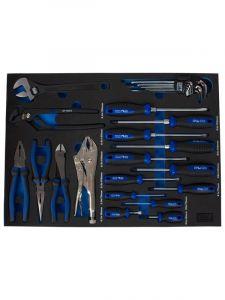 SP Tools SP50070 Eva Inleg 35-delig Schroevendraaiers, Tangen en Binnenzeskant Stiftsleutelset (Lade)